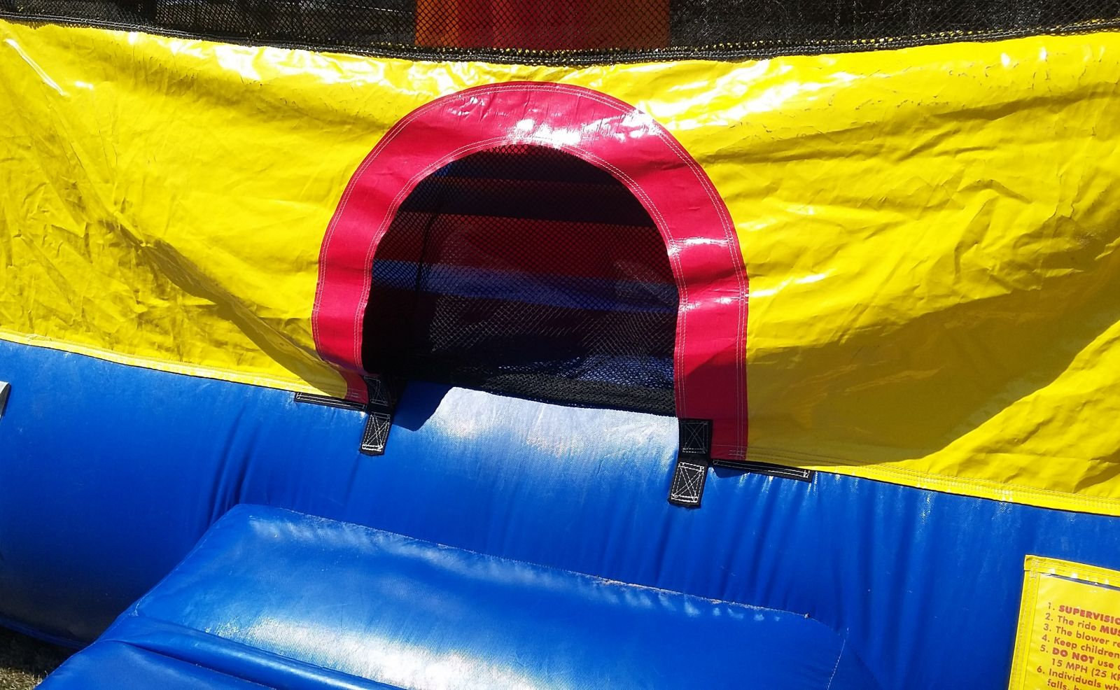 Entrance with Safety Closure to Bounce House
