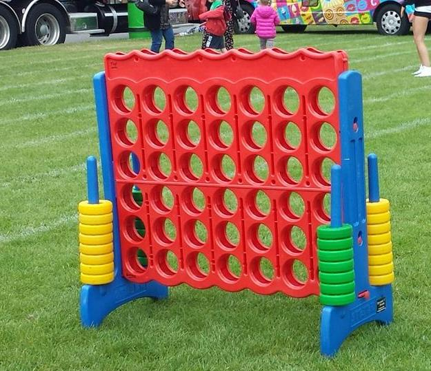 Giant Connect 4 game at city festival