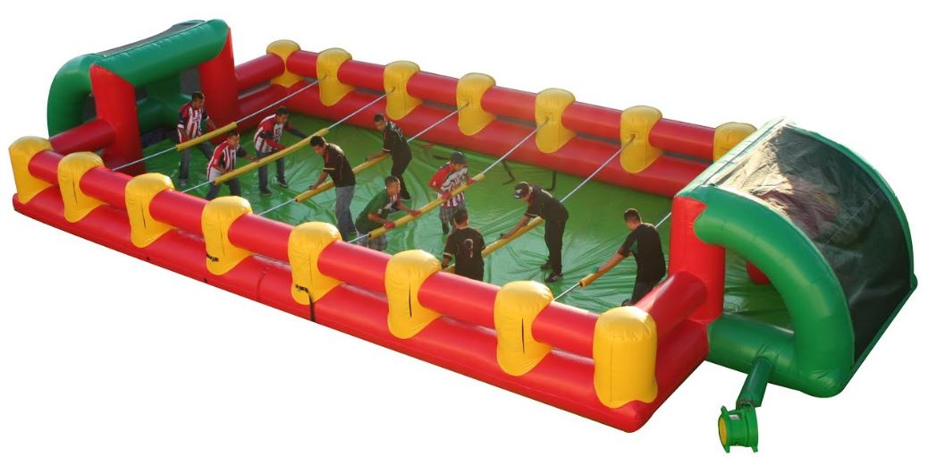 Human foosball inflatable game rental