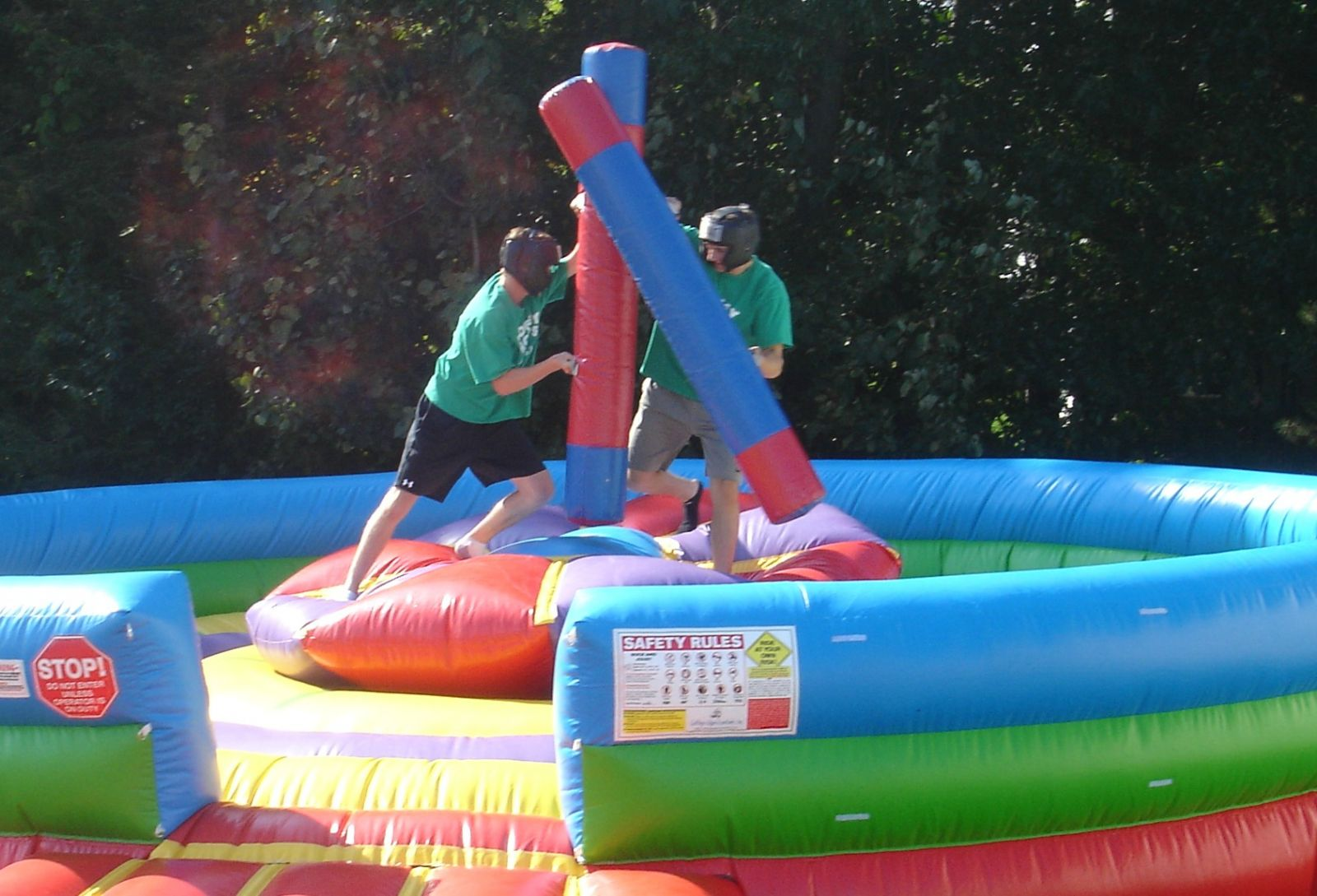 2 Young Men on Rock'Em and Sock'Em Joust