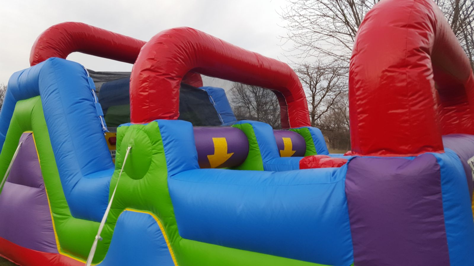 Squeeze Through Obstacles on Inflatable Obstacle Course
