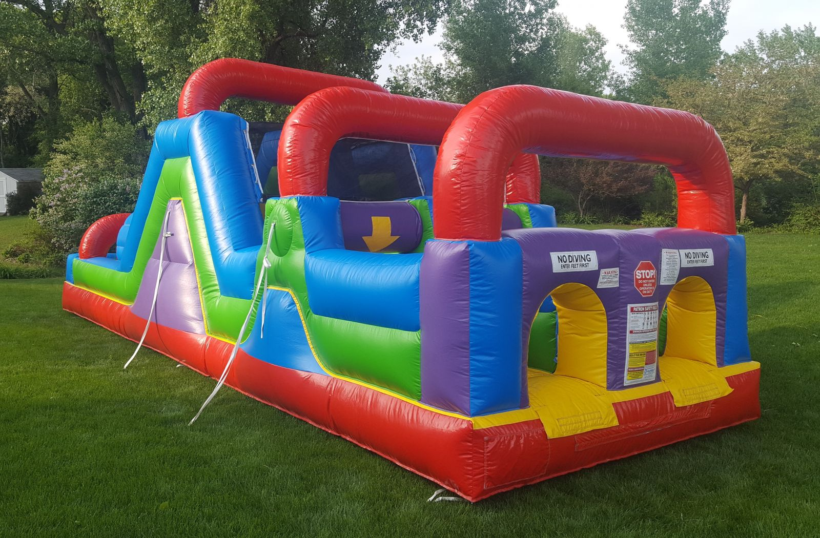 Inflatable Obstacle Course Rental in yard