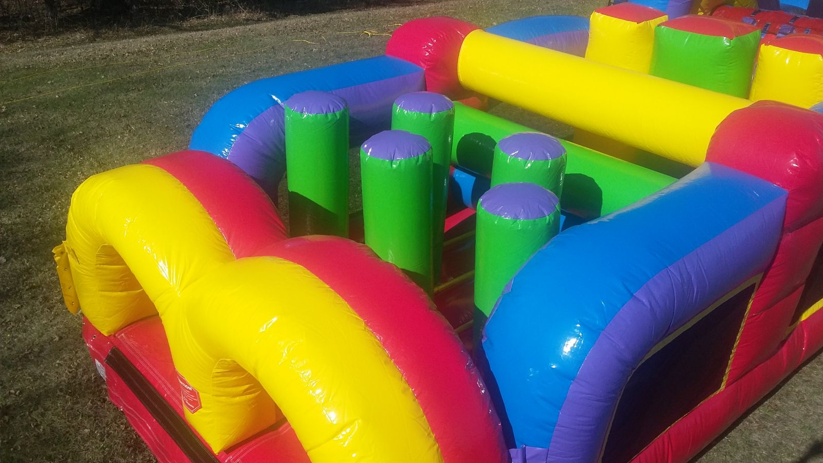 Inflatable obstacles inside the conquer obstacle course