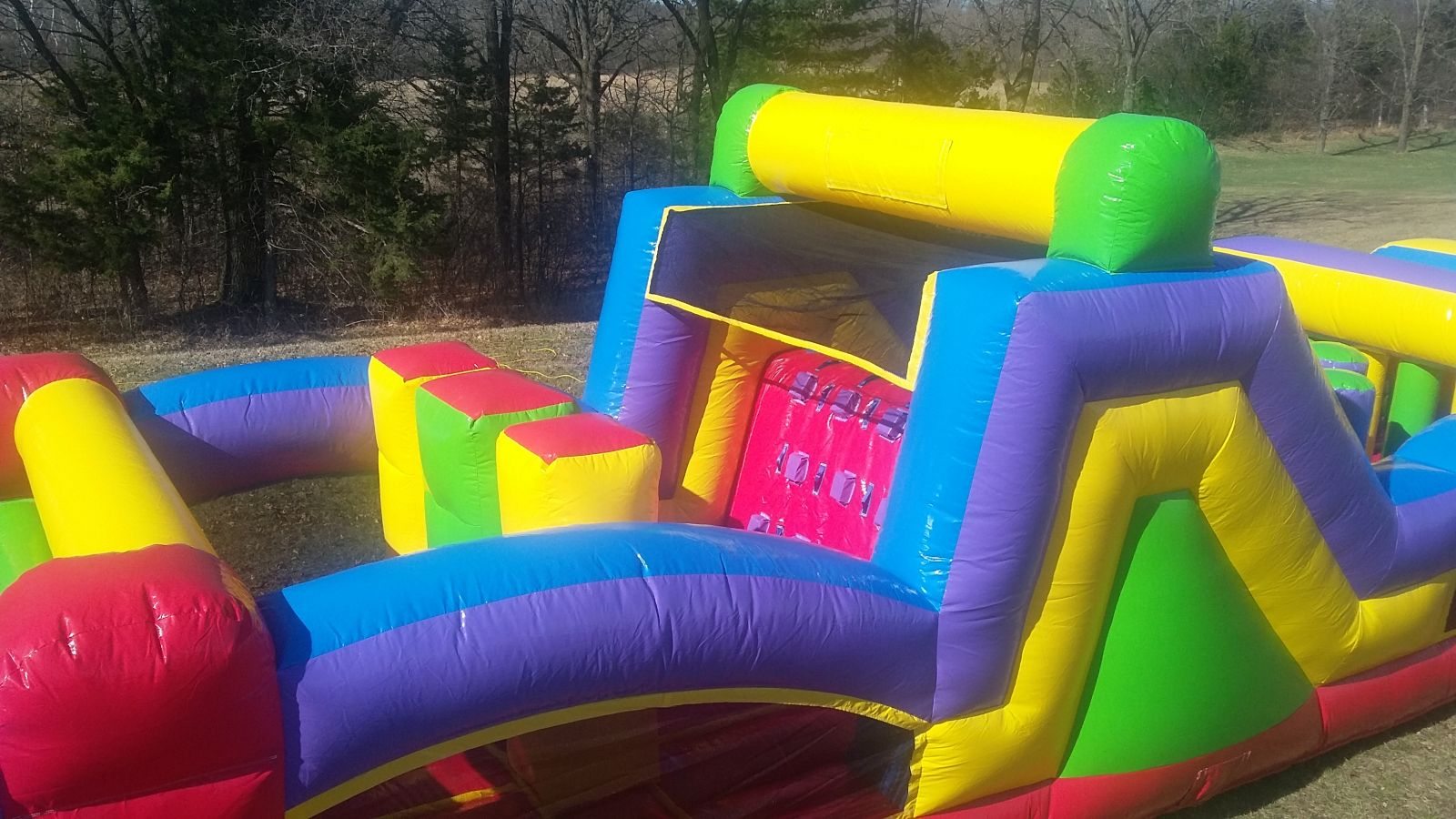 Inflatable squeeze-throughs and first climbing wall on 68 conquer obstacle course