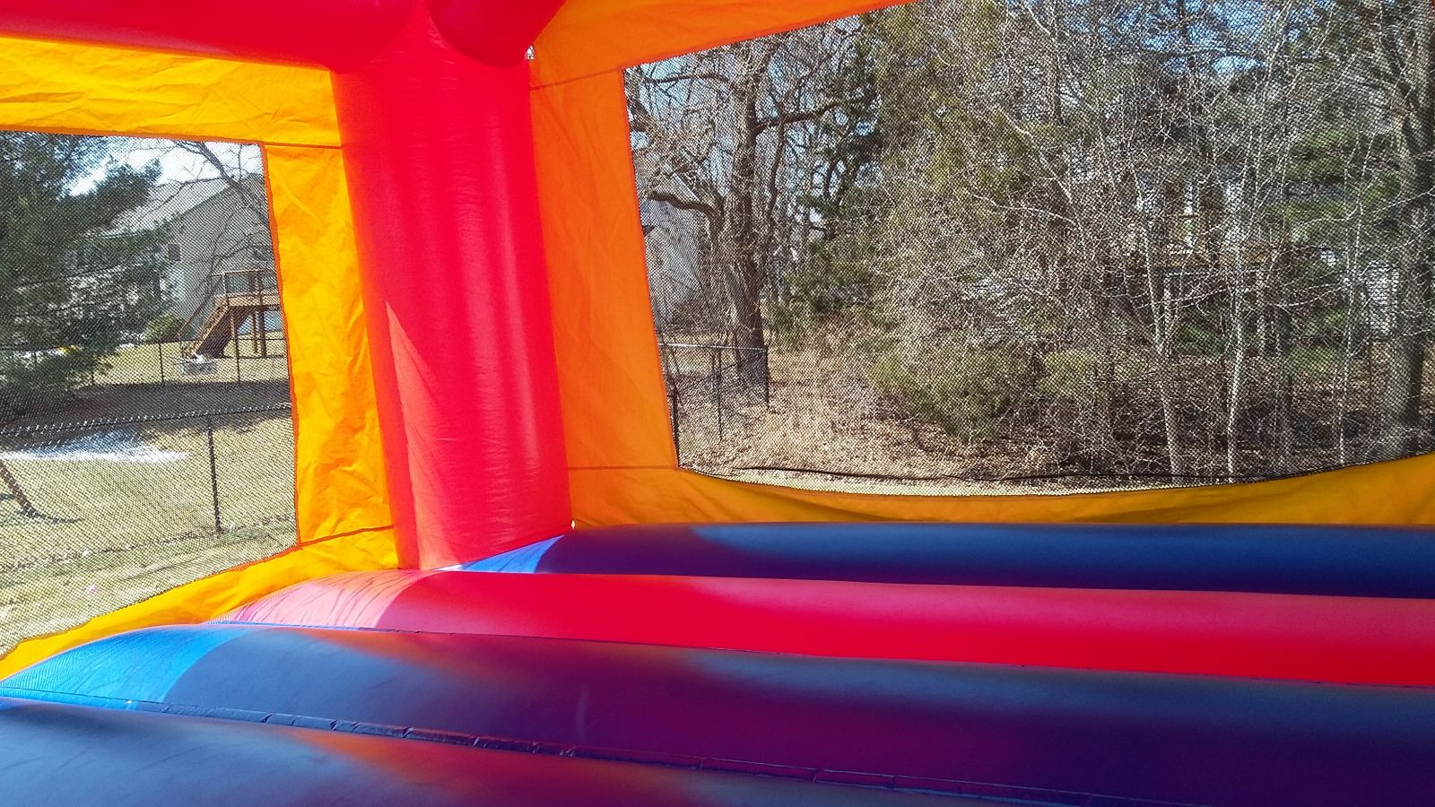 Interior of 15x15 Bounce House Rental from Froggy Hops