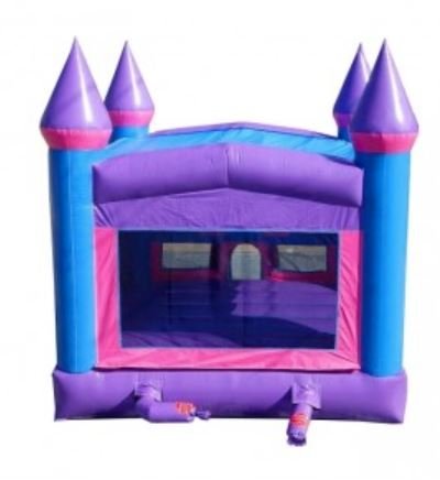 This castle bounce house features windows on all sides offering great air-flow.