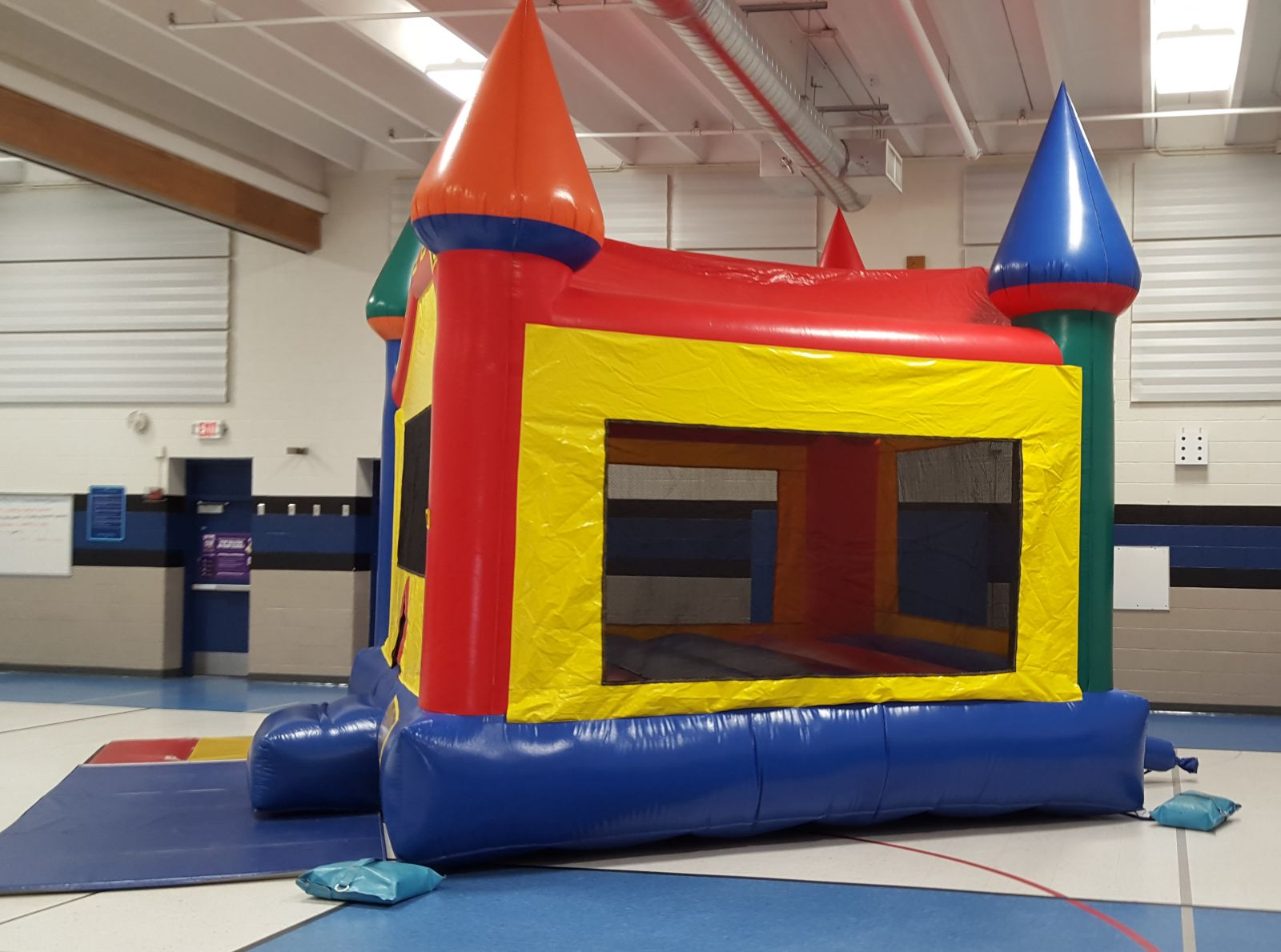 Side view of the Fun-Filled Castle Bounce House Rental