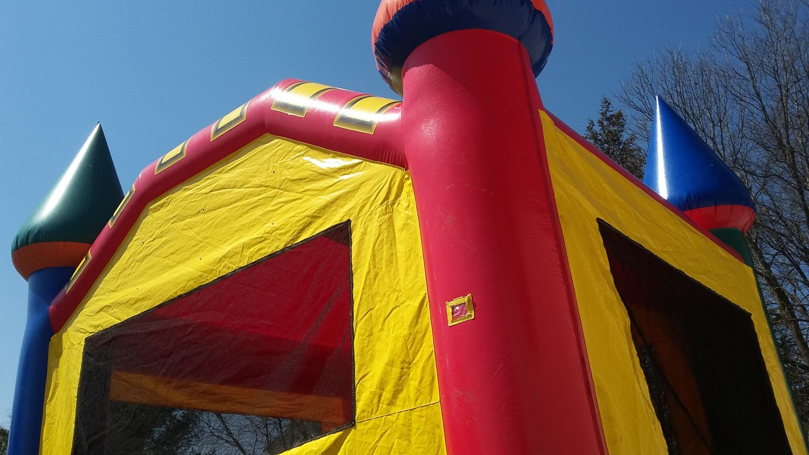 Skyview of Fun-Filled Castle Bounce House