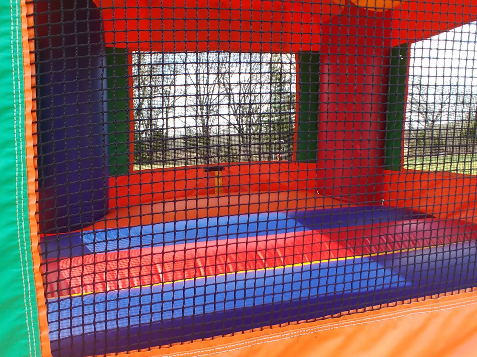 Sports Bounce House rental interior view