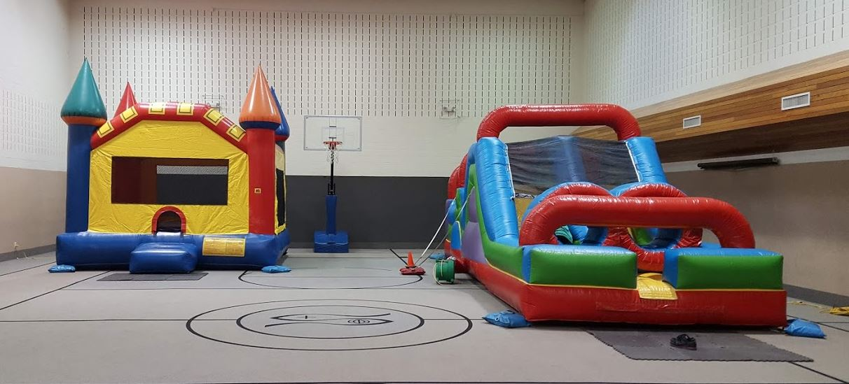 Tadpole Package with Obstacle Course Bounce House rental combo deal