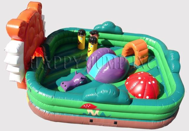 Toddler Bounce House with animal-theme and toddler-sized obstacles