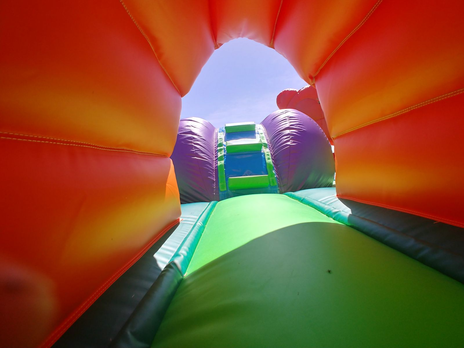 Tunnel inside toddler playland bounce house rental
