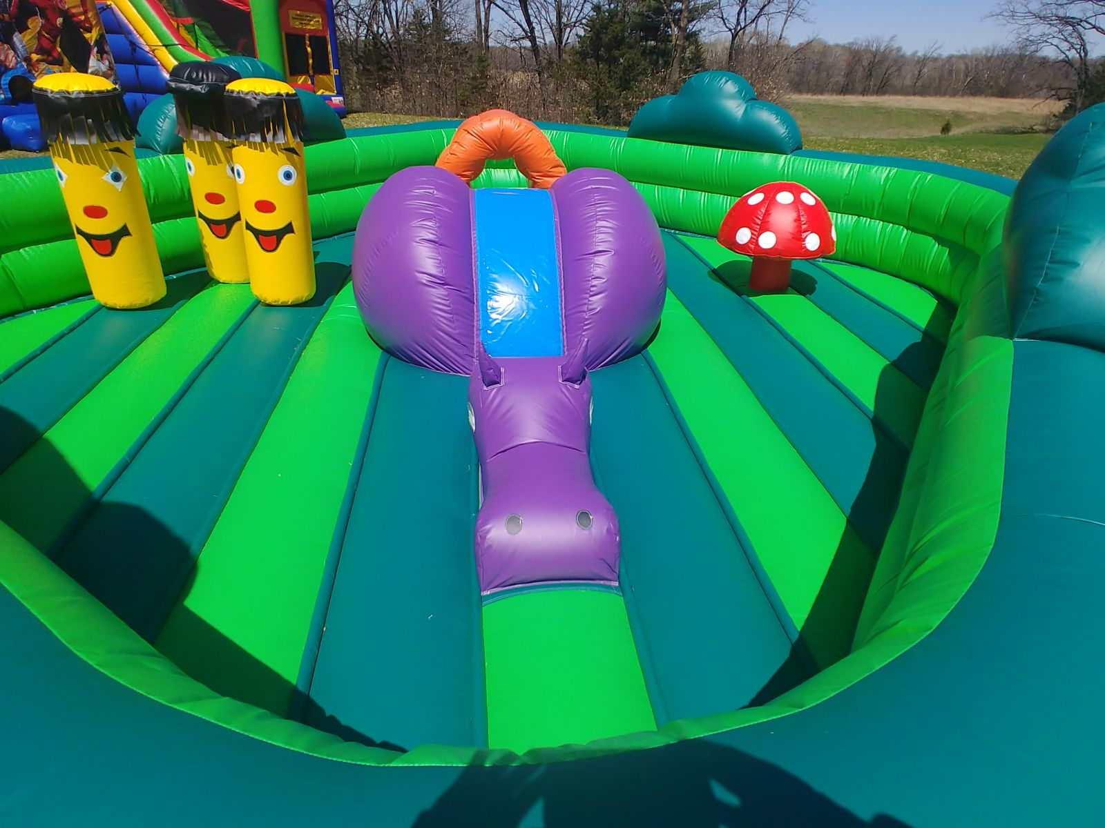 Bounce House for toddlers with small slide, tunnels, obstacles, and more!