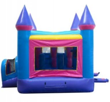 Open side windows on the bounce house rental with slide