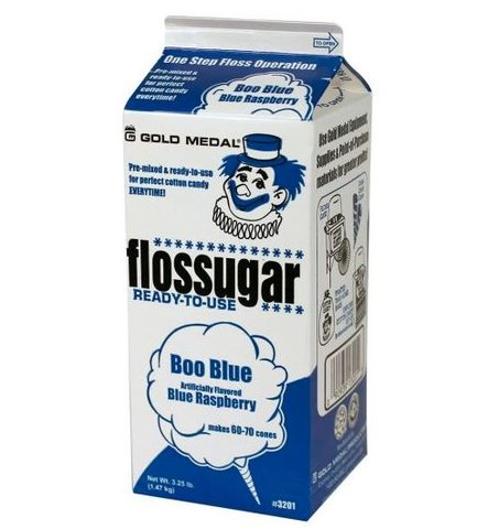 Cotton Candy Flossugar Carton - BLUE
