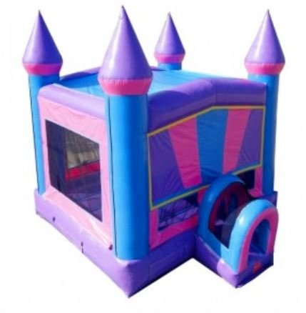Pink and Purple Dream Castle Bounce House