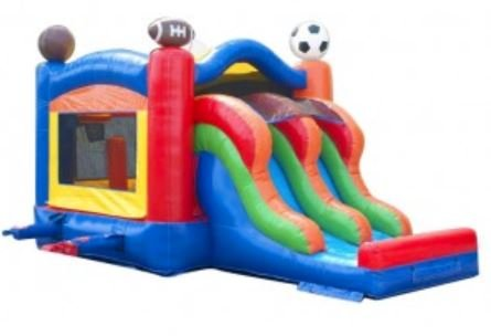 Sports Dual-Lane Slide Combo Bouncer
