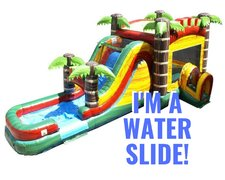 Mega Beach-Day Water Slide Combo