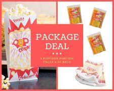 Popcorn Package - 3 portion packs and 50 bags