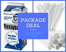 PACKAGE - Cotton Candy Flossugar and 60 Cones - BLUE