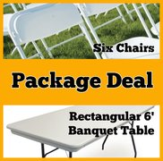 Package Deal - Rectangular Table and Six Chairs