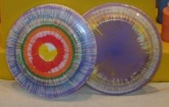 Spin-Art Frisbees - set of 10