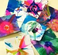 Spin-Art 5x7 Cards - set of 25