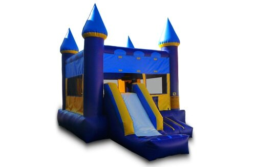 Blue And Yellow Bouncer With Slide (DRY)