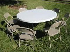 1 Round Table and 8 Chairs Package