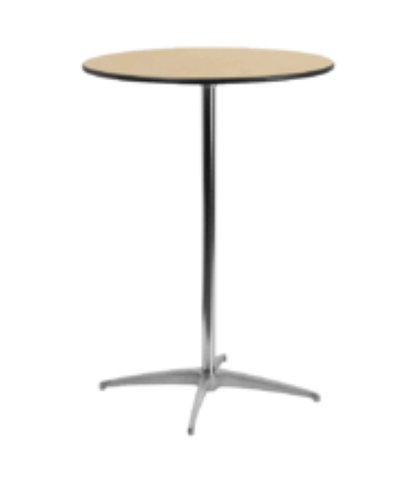 "30"" round cocktail table (42""tall/2-4guest)"