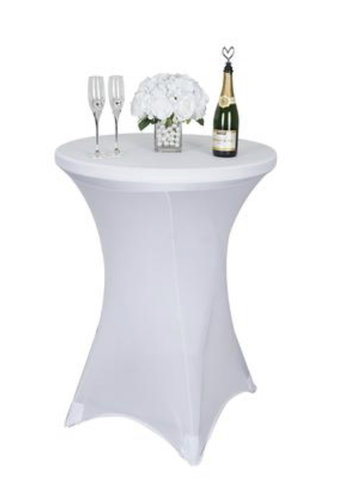 White Cocktail cover (spandex)