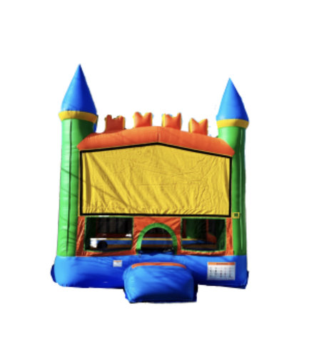 13ft x 13ft Blue/Green Bounce House