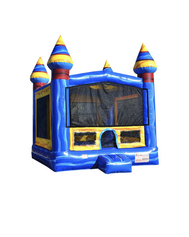 13ft x 13ft Blue Marble Bounce House