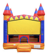 13ft x 13ft Orange Swirl Bounce House