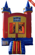 10ft x 10ft Compact Blue Marble Castle Bounce House