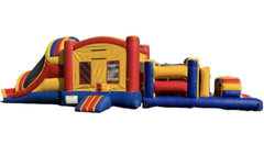 13ft x 42ft dual lane bounce house obstacle course