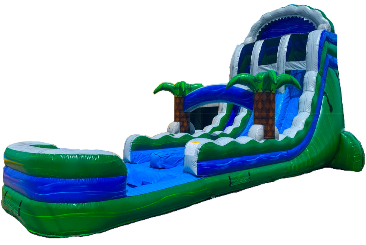 Dual Lane Tropic Thunder Waterslide Side View