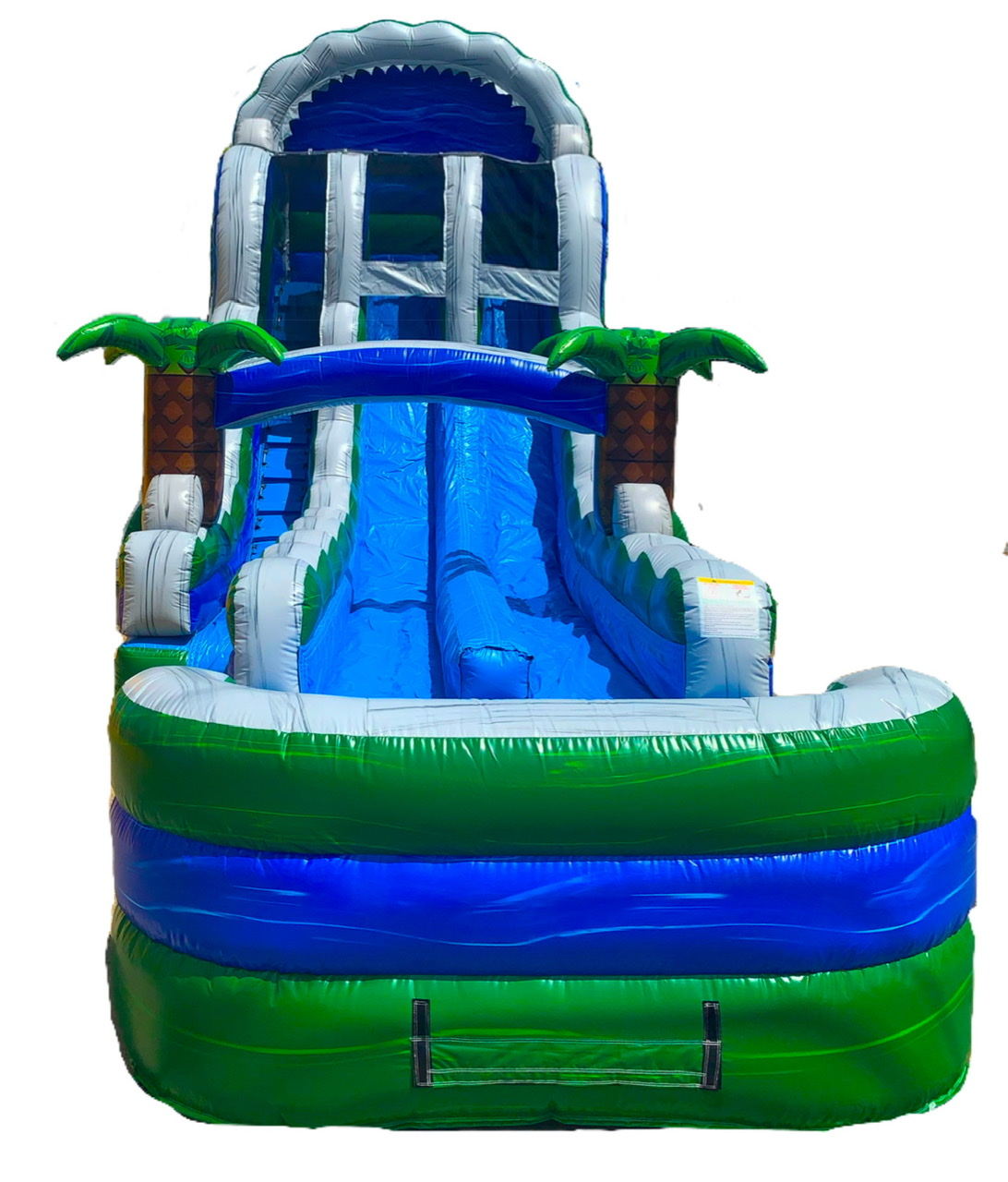 19ft Dual Lane Tropic Thunder Waterslide