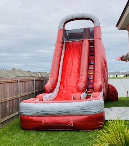 Black, White, and Red color Rippin Ragin Cajun Water slide