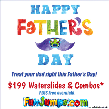 Father's Day discount on slides, free overnight