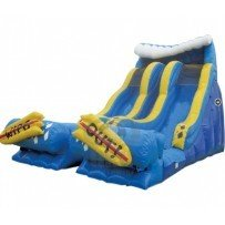20' Wipeout Dual Lane Slide-su17325 Dry