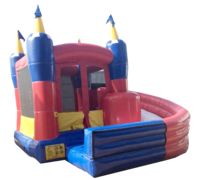 Toddler Castle Curve Slide Combo
