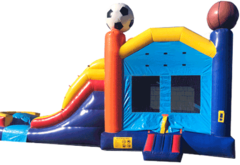 Sports 2 Lane WaterSlide Combo-13238