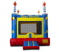 Blue B-Day Cake Bounce13x13