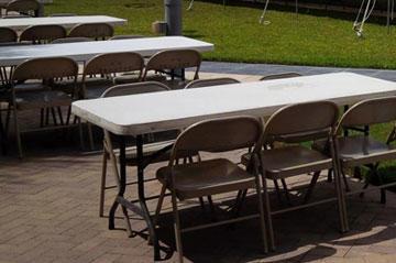 table & chair rentals McAllen TX