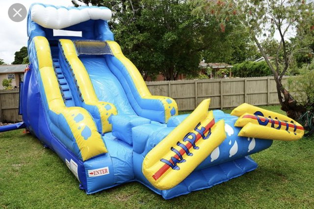 22ft WipeOut Water Slide