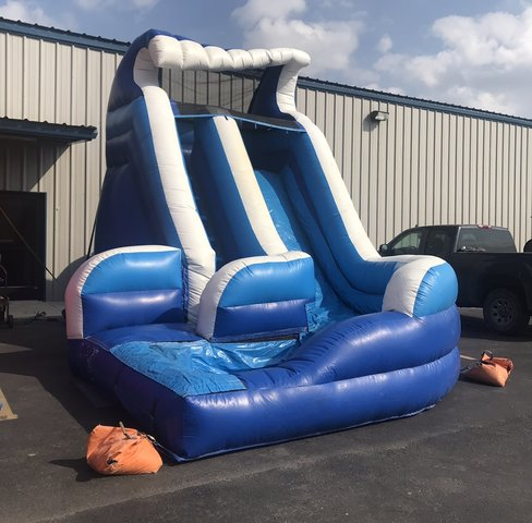 16ft Blue Curve Water Slide