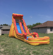 22ft Orange Fire Water Slide