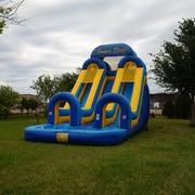 22ft Super Splash Double Lane Water Slide