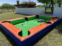 Pool Table with Soccer Balls Game